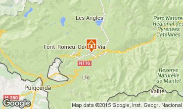 Mapa Bolquère Pyrenées 2000 Apartamento 3982