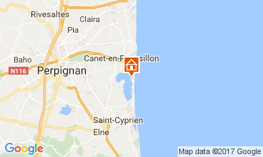 Mapa Canet-en-Roussillon Estudio 109316