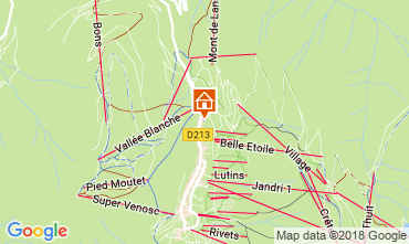 Mapa Les 2 Alpes Apartamento 111828
