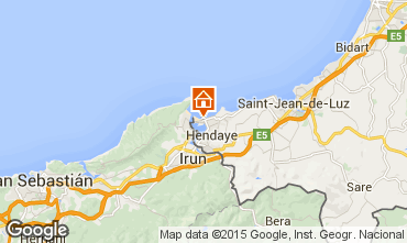 Mapa Hendaya Apartamento 99522