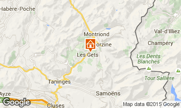 Mapa Les Gets Chalet 80003