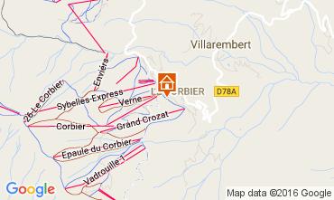 Mapa Le Corbier Apartamento 1072