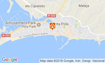 Mapa Santa Pola Apartamento 113816
