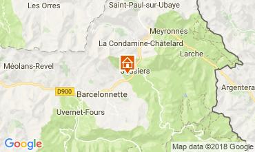 Mapa Jausiers Chalet 113520
