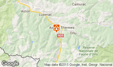Mapa Ax Les Thermes Apartamento 27803