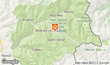 Mapa Molines Saint-V�ran Apartamento 28786