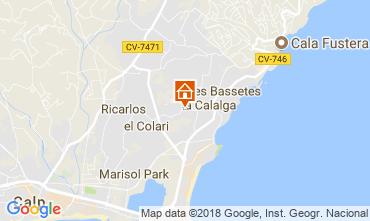 Mapa Calpe Chalet 114759