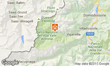 Mapa Domodossola Villa 17016