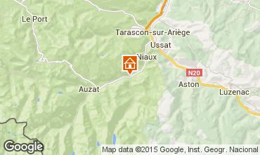Mapa Ussat les Bains Casa rural 72667