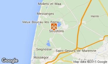 Mapa Soustons Villa 77329