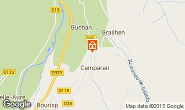 Mapa Saint Lary Soulan Casa rural 61378