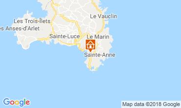 Mapa Sainte Anne (Martinique) Bungalow 8125