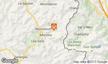 Mapa Morzine Chalet 1953