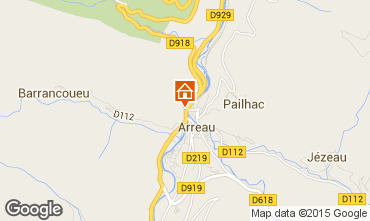 Mapa Saint Lary Soulan Chalet 4470