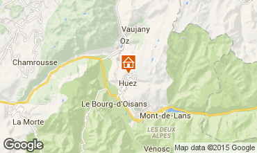 Mapa Alpe d'Huez Chalet 108