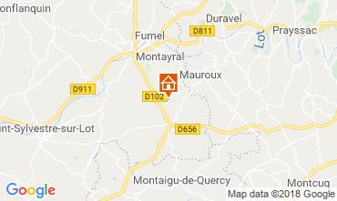 Mapa Tournon d'Agenais Casa rural 117004