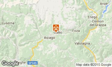 Mapa Altopiano di Asiago Apartamento 49262