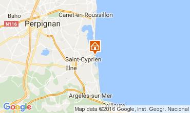 Mapa Saint Cyprien Plage Apartamento 106514