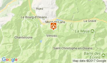 Mapa Les 2 Alpes Apartamento 111830