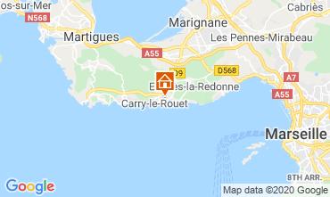 Mapa Carry le Rouet Villa 110191