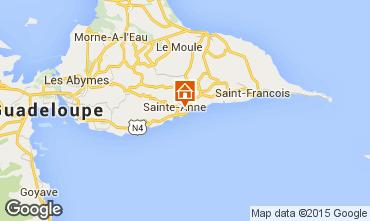 Mapa Sainte Anne (Guadalupe) Casa rural 71841