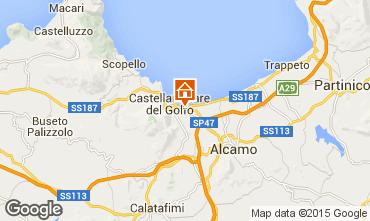 Mapa Castellammare del Golfo Villa 76275