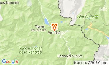 Mapa Val d'Isère Estudio 3337