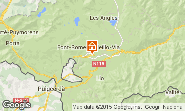 Mapa Font Romeu Apartamento 40783