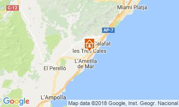 Mapa La Ametlla de Mar Villa 46315