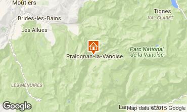 Mapa Pralognan la Vanoise Apartamento 89173