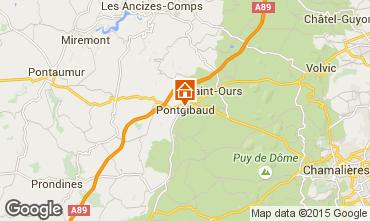 Mapa Clermont-Ferrand Casa rural 100191