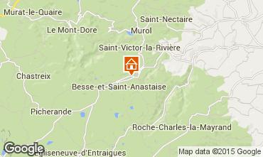 Mapa Besse et Saint Anastaise Chalet 3837