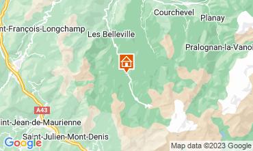 Mapa Les Menuires Chalet 111406