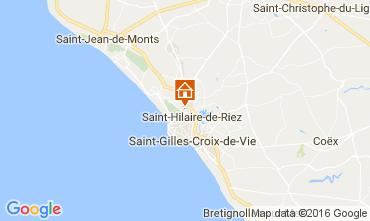 Mapa Saint Hilaire de Riez Mobil home 107395