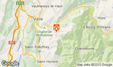 Mapa Alpe du Grand Serre Apartamento 65959