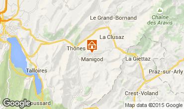 Mapa La Clusaz Chalet 81466