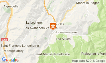 Mapa Saint Martin de Belleville Chalet 2645