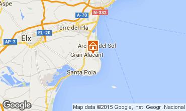 Mapa Santa Pola Apartamento 56526