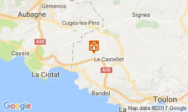 Mapa La Cadière d'Azur Mobil home 77786