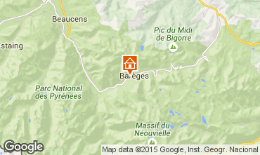 Mapa Barèges Chalet 3978