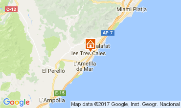 Mapa La Ametlla de Mar Villa 39221