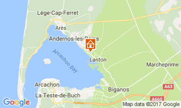 Mapa Andernos les Bains Villa 111085