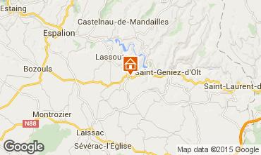 Mapa Sainte Eulalie d'Olt Casa rural 12005