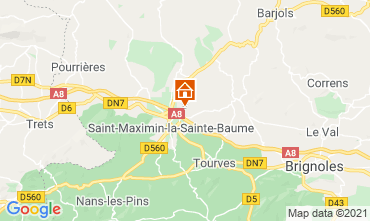 Mapa Saint Maximin la Sainte Baume Villa 112385