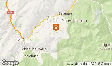 Mapa La Plagne Apartamento 81512