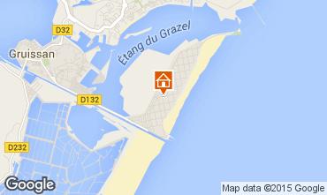 Mapa Gruissan-Plage Apartamento 56156