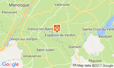 Mapa Esparron-de-Verdon Villa 108016