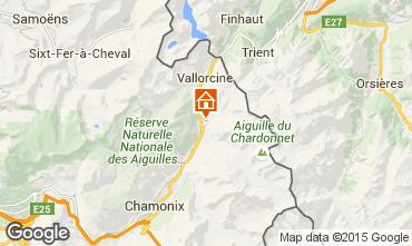 Mapa Chamonix Mont-Blanc Chalet 721