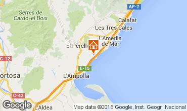 Mapa La Ametlla de Mar Chalet 102064