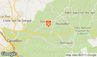 Mapa Gordes Casa rural 23794